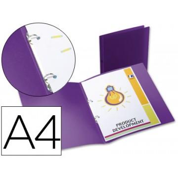 Pasta Arquivo Lombada 17mm A4 PP 2 Anéis Translucida Violeta