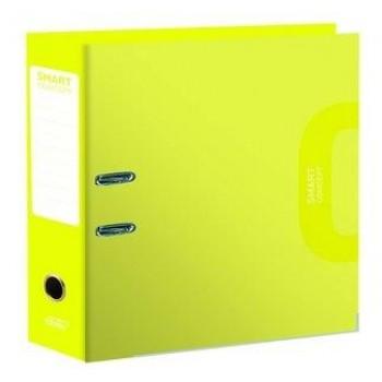 Pasta Arquivo Lombada 80mm Larga A4 Smart Concept Amarelo limão