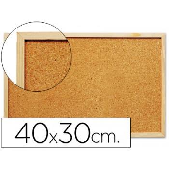 Quadro de cortiça 40x30cm com caixilho em madeira