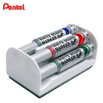 Apagador Para Quadro Branco Magnético Com 4 marcadores