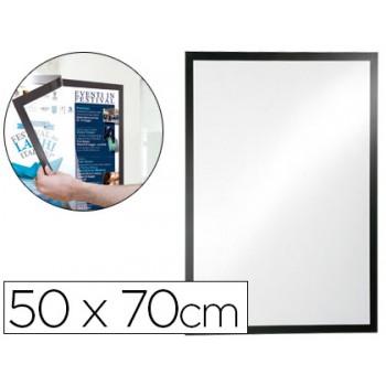 Moldura Porta Anúncios Magnética 50x70cm Preto Durable