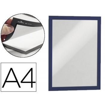 Moldura Porta Anúncios Magnética DIN A4 PVC Preta Durable - 2 Unidades
