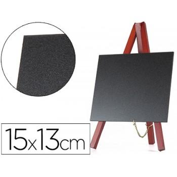 Quadro Preto Com Cavalete De Madeira 15x13Cm -Conjunto 3 quadros