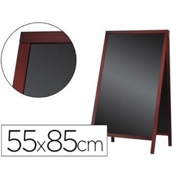 Quadro Preto Com Cavalete Dupla Face De Madeira 55x85Cm