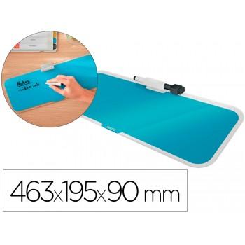 Quadro Branco de Vidro para Secretária 46,3x19,5x9cm Azul Leitz Cosy