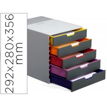 Bloco Classificador Plástico 5 Gavetas Com Perfil De Cor 292x280x356mm