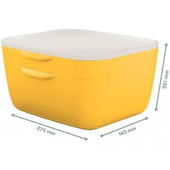 Bloco Classificador 2 Gavetas Amarelo Leitz Cosy