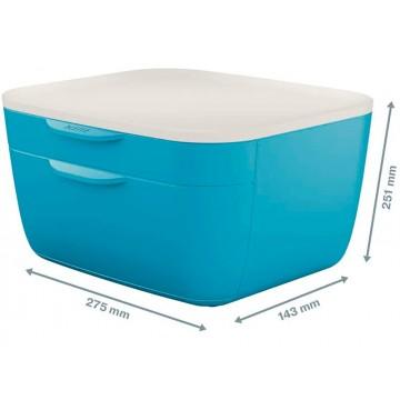 Bloco Classificador 2 Gavetas Azul Leitz Cosy