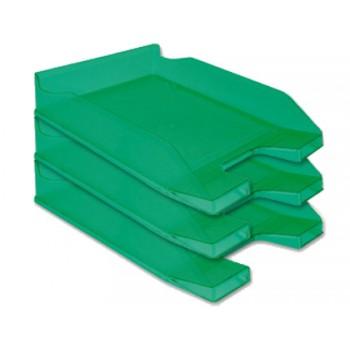 Tabuleiro de secretária em Plástico A4 Verde Transparente 6 Unidades