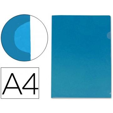 Bolsa Plástica A4 em L Transparente Azul 180 Microns