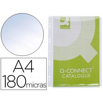 Bolsa Catálogo A4 180 Microns Com Fole Até 1 cm Q-Connect 5 Unidades