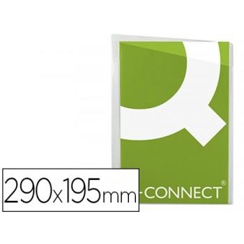 Bolsa Catálogo Sem Furos 100 Microns Corte Oblíquo Cristal Q-Connect 100 Unidades