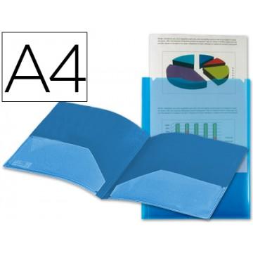 Bolsa Plástica A4 Personalizavel Com Dupla Bolsa Azul