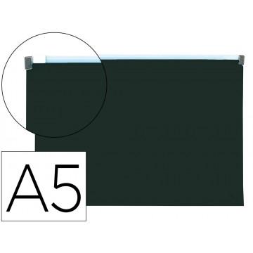 Bolsa Plástica A5 Com Fecho (Zip) Preta Opaco 10 Unidades