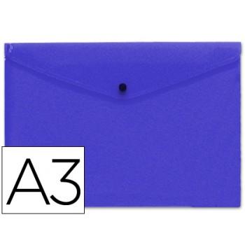 Envelope Plástico A3 com Mola Azul 10 Unidades