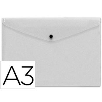 Envelope Plástico A3 com Mola Cristal 10 Unidades