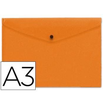 Envelope Plástico A3 com Mola Laranja 10 Unidades