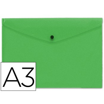 Envelope Plástico A3 com Mola Verde