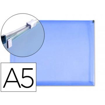 Bolsa Plástica A5 Com Fecho Eclair Azul 10 Unidades
