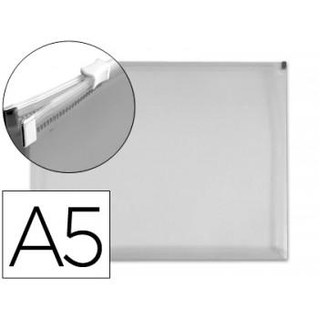 Envelope Plástico A5 Com Fecho Eclair Transparente