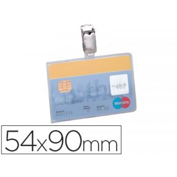 Identificador Com Mola Clip Giratório Horizontal PVC 54X90mm 25 Unidades