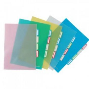 Bolsa Plástica A4 em L com 4 Separadores Transparente ErichKrause