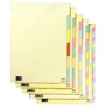 Separadores Cartolina A4 6 Posições 180grs