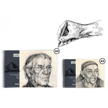 Bloco de desenho A4 50 Folhas 120gr Espiral Make Notes