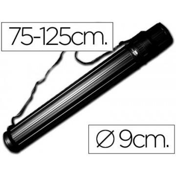 Tubo Porta Desenho Extensível de 75cm até 125cm Preto