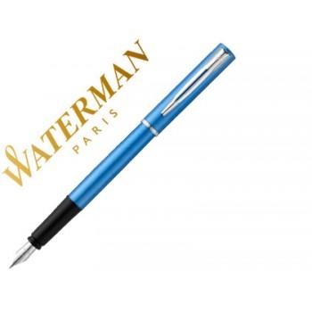 Esferográfica Waterman Allure Lacada Azul Com Estojo
