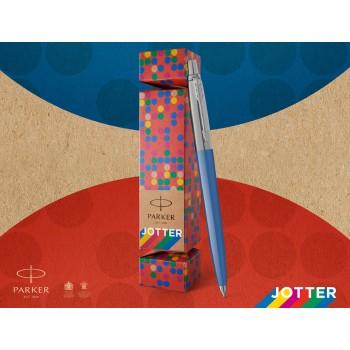 Esferográfica Parker Jotter Originals Cracker Corpo Azul Caixa Vermelha