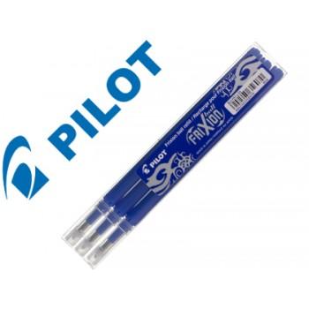 Carga Esferográfica Pilot Frixion Ball Clicker Azul 3 Unidades