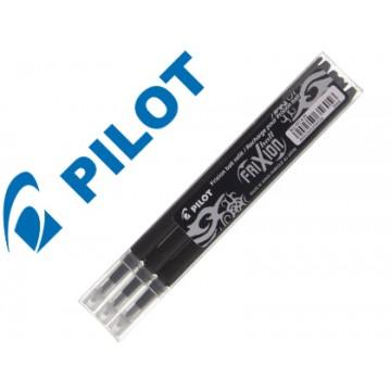 Carga Esferográfica Pilot Frixion Ball Clicker Preto 3 Unidades