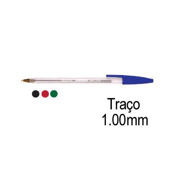 Esferográfica Cristal Ball Point 1,0mm Azul 50 Unidades