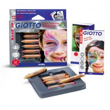 Lápis de cor Com 6 Giotto cosmetico