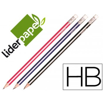 Lápis Grafite HB Com Borracha Triangular 12 Unidades