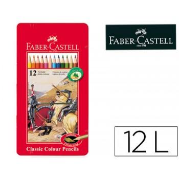 Lápis de Cor Faber Castell 12 Unidades Caixa de Metal