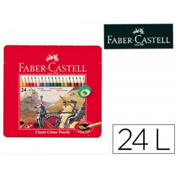 Lápis de Cor Faber Castell 24 Unidades Caixa de Metal
