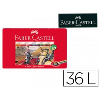 Lápis de Cor Faber Castell 36 Unidades Caixa de Metal