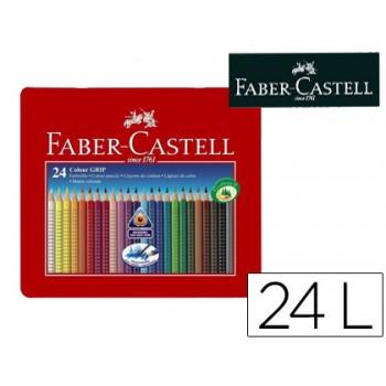 Lápis de Cor Faber Castell Aquarela 24 Unidades Caixa de Metal