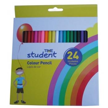 Lápis de Cor Com 24 Time Student