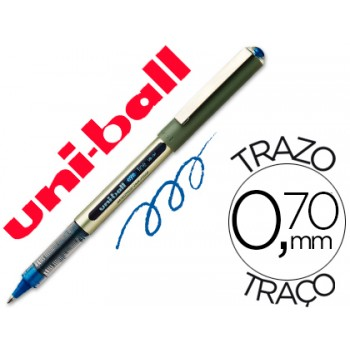 Marcador 0.7mm Roller Uni Ball UB-157 Azul