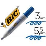 Marcador Para Quadro Branco BIC Velleda 1751 Ponta Biselada Azul