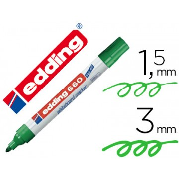Marcador Para Quadro Branco Edding 660 Verde 10 Unidades