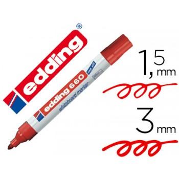 Marcador Para Quadro Branco Edding 660 Vermelho 10 Unidades