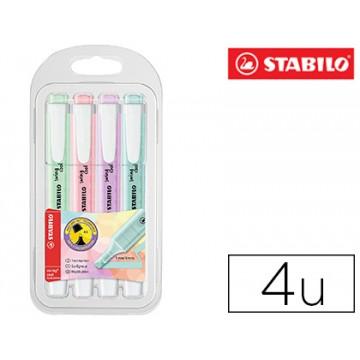 Marcador Fluorescente Swing Cool Color Pastel Pack 4 Unidades Stabilo