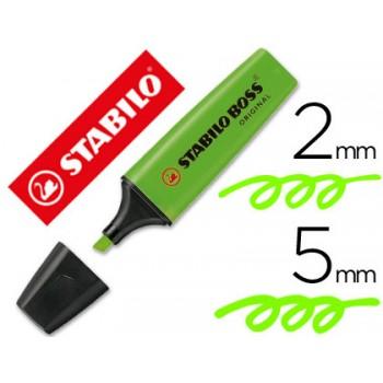 Marcador Fluorescente Stabilo Boss Verde