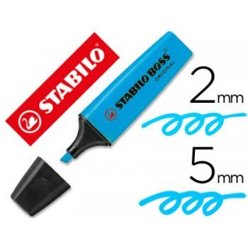 Marcador Fluorescente Stabilo Boss Azul