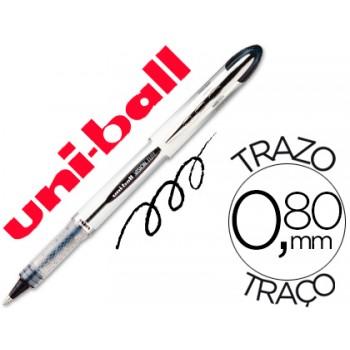 Marcador 0.8mm Roller Ball Uni-Ball UB-200 Vision Preto 12 Unidades