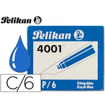 Cartucho de Tinta Pelikan Azul-Caixa de 6 unidades